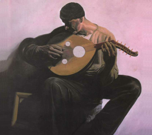Painting by Henry Ward of Brandon Terzic