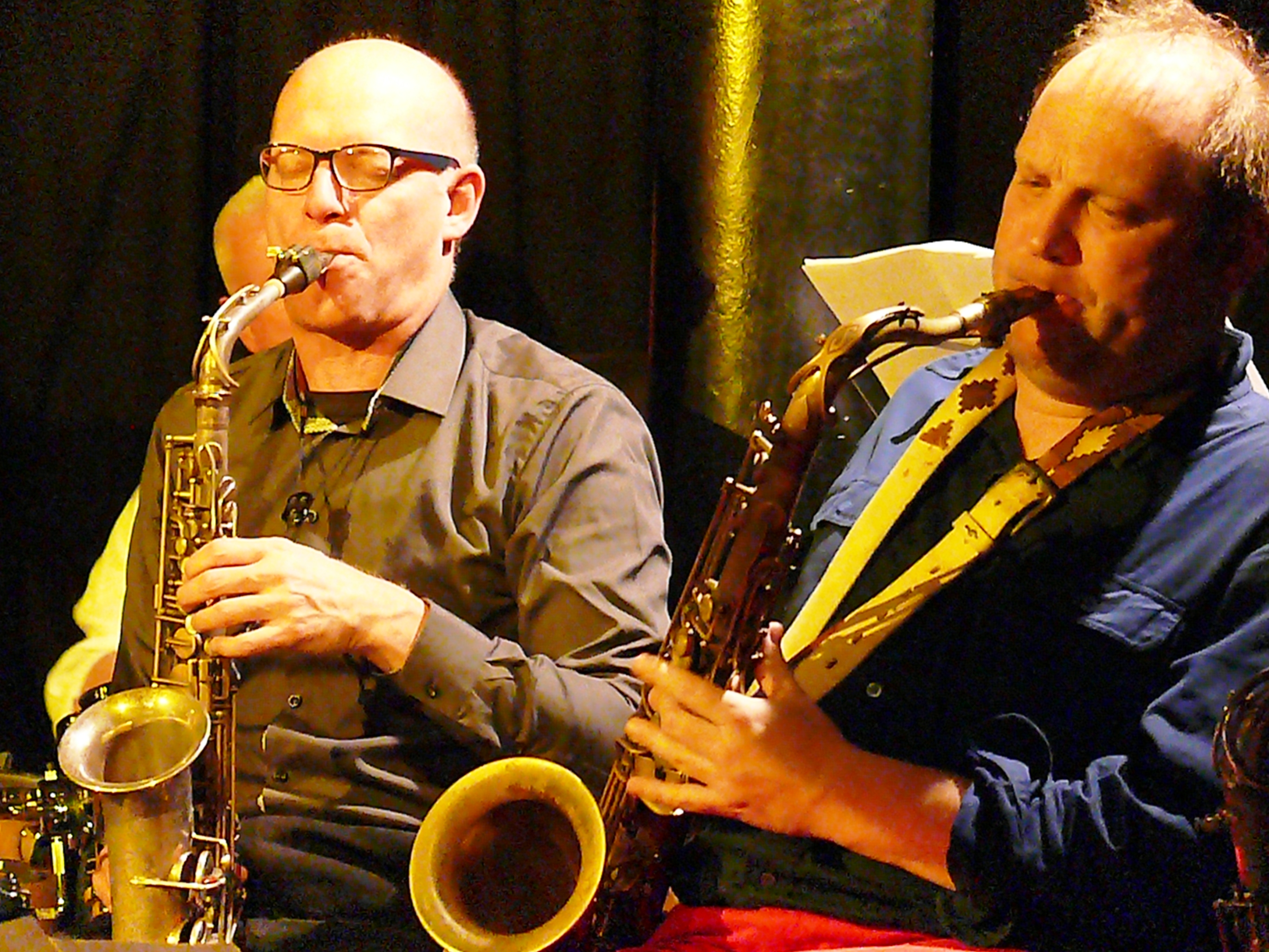 Michael moore and tobias delius at the vortex, london in february 2013