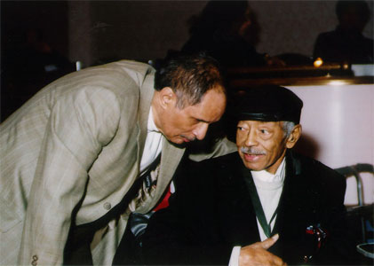 Larry Ridley with the Late Jimmy Coe