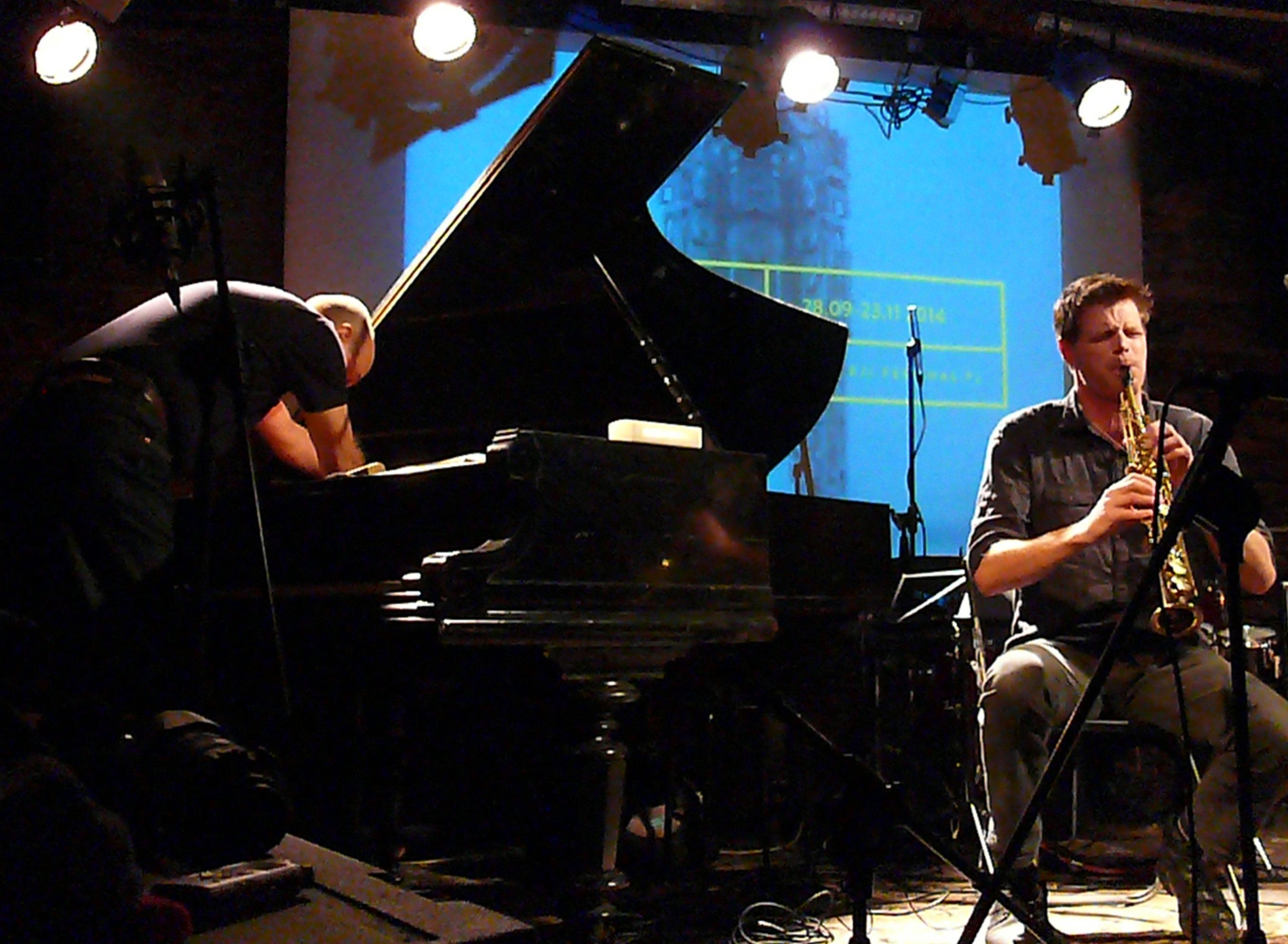Agusti Fernandez and Torben Snekkestad at Alchemia, Krakow in November 2014