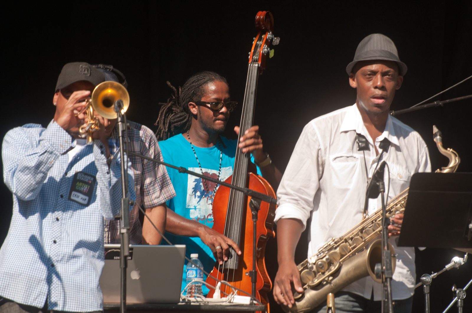 Ingmar Thomas, Ben Williams and Marcus Strickland at the Charlie Parker Festival 2010