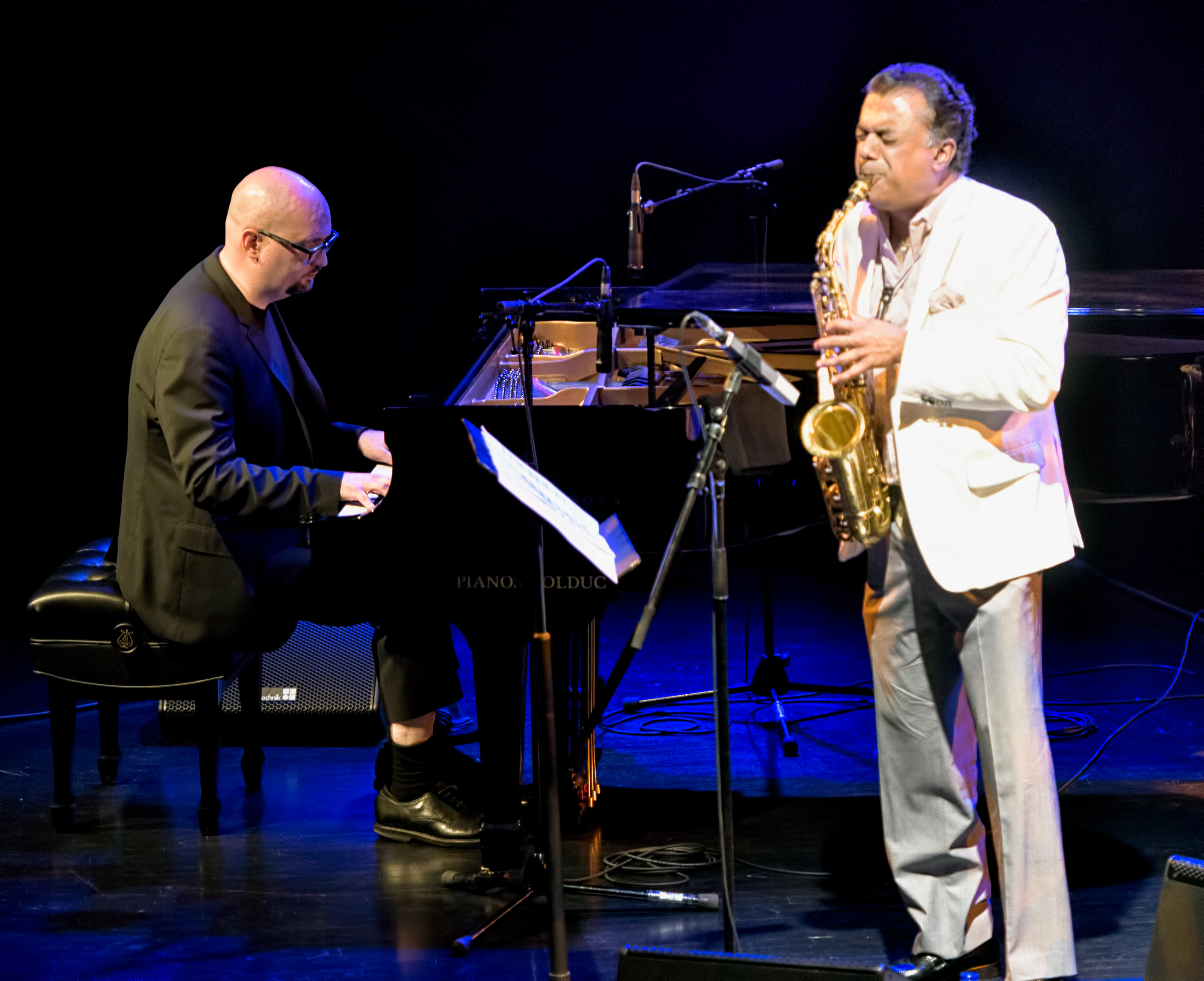 Ethan Iverson and Rudresh Mahanthappa with the Bad Plus at The Montreal International Jazz Festival 2017