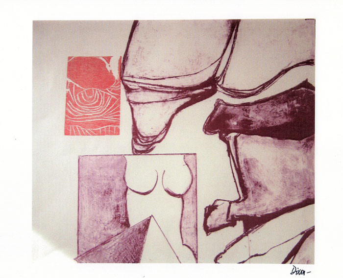 Bill Dixon Gallery: Untitled Lithograph & Xylogravure