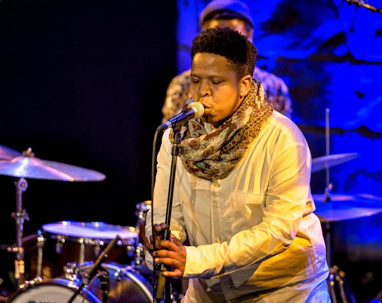 Siyabonga Mthembu with Shabaka and the Ancestors at The Montreal International Jazz Festival 2017