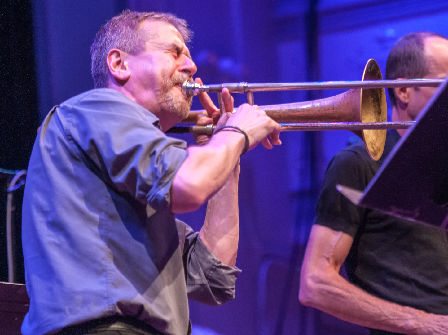 Steve swell with quintet at the vision festival 2012
