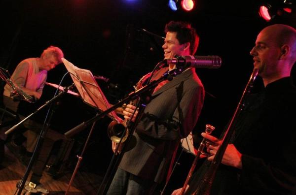 "David Kikoski, Seamus Blake and Christoph Schweizer with ""Christoph Schweizer-David Kikoski-Seamus Blake-Gene Jackson-Danton Bol"