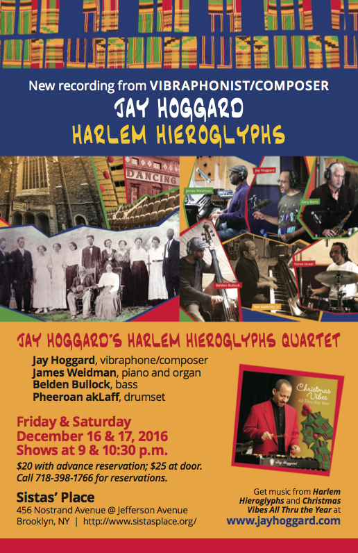Jay Hoggard Quartet at Sista's Place