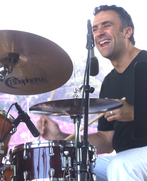 George Fludas with Pat Mallinger/Bill Carrothers Quartet at 2011 Chicago Jazz Festival