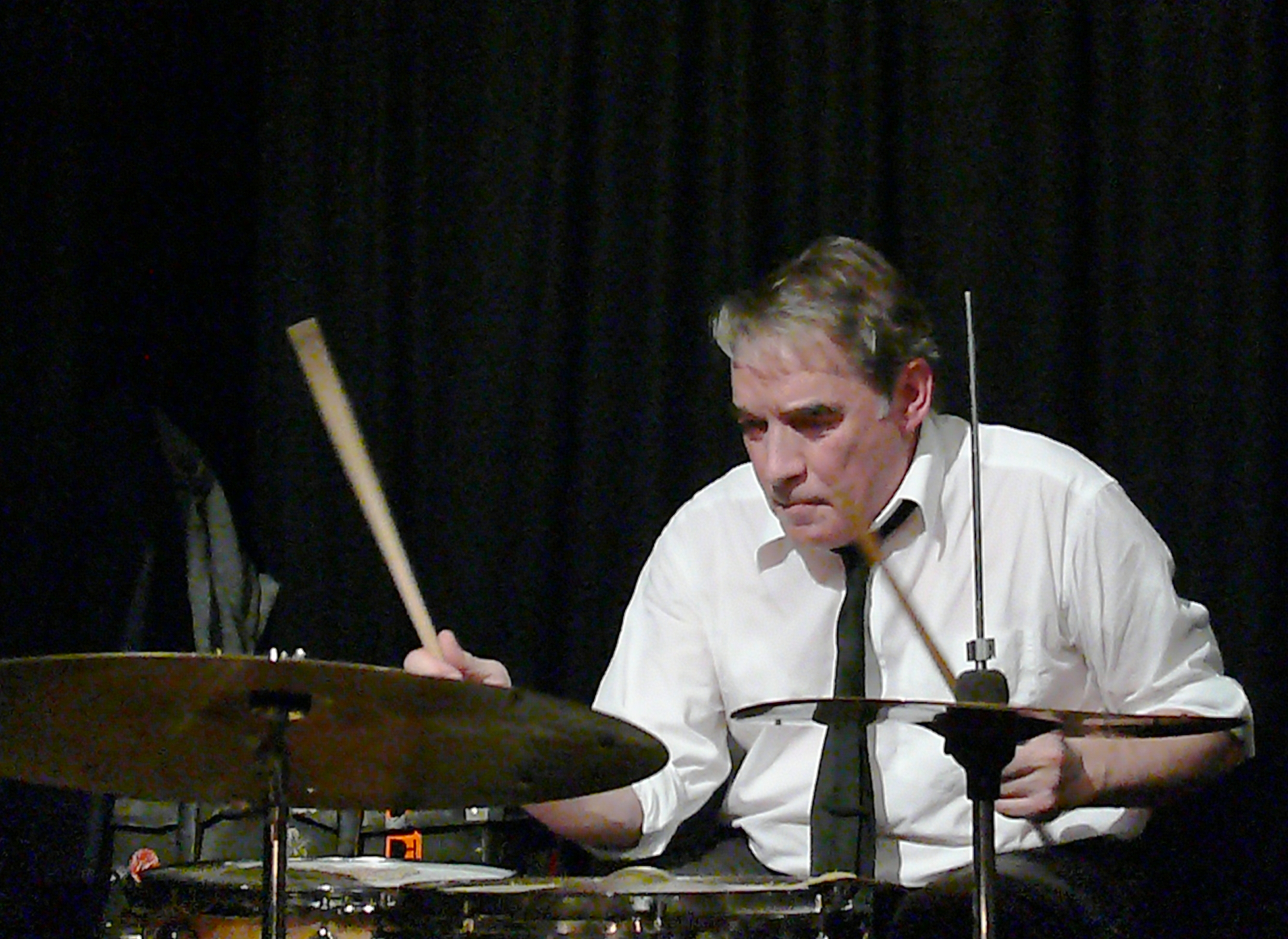 Paul Lovens at the Vortex, London in January 2012