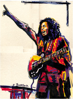 Bob Marley by Everett Spruill