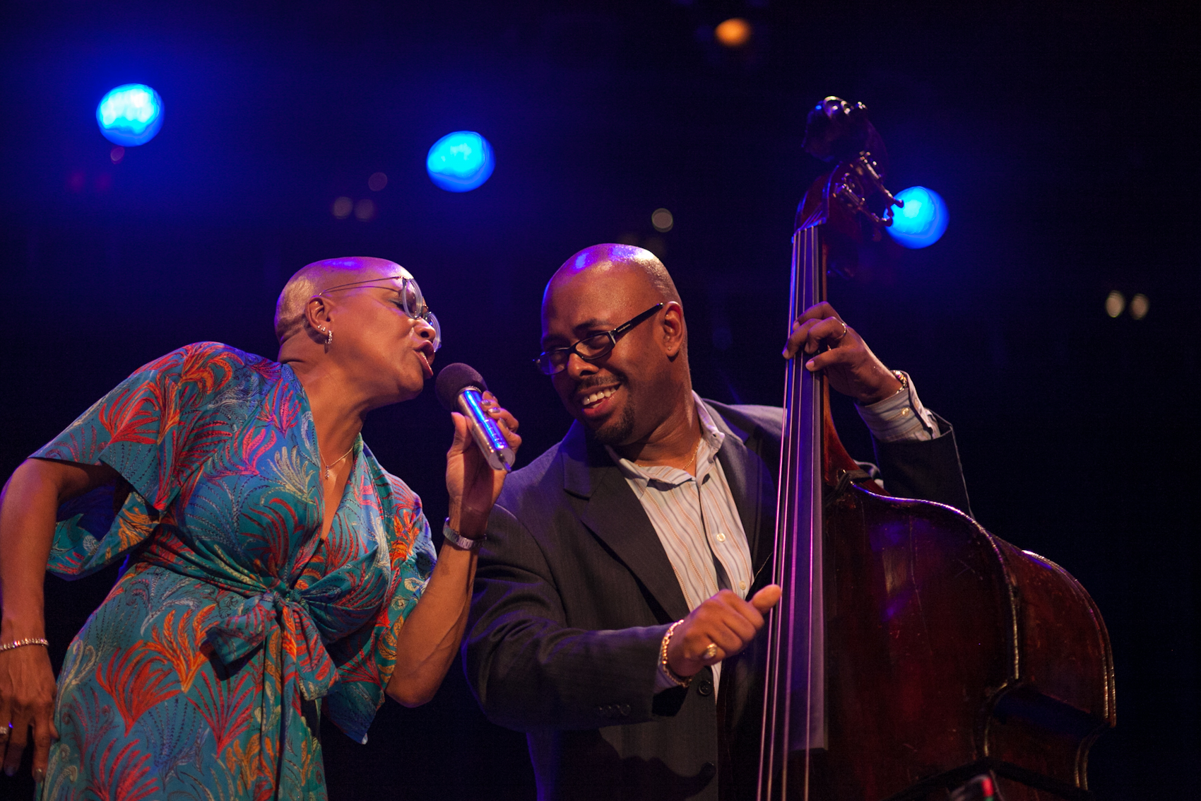 Dee Dee Bridgewater and Christian McBride at Jazz for Obama 2012