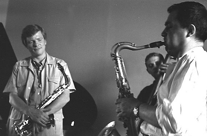 Gerry mulligan with vlad west (v.sermakashev) moscow 1967