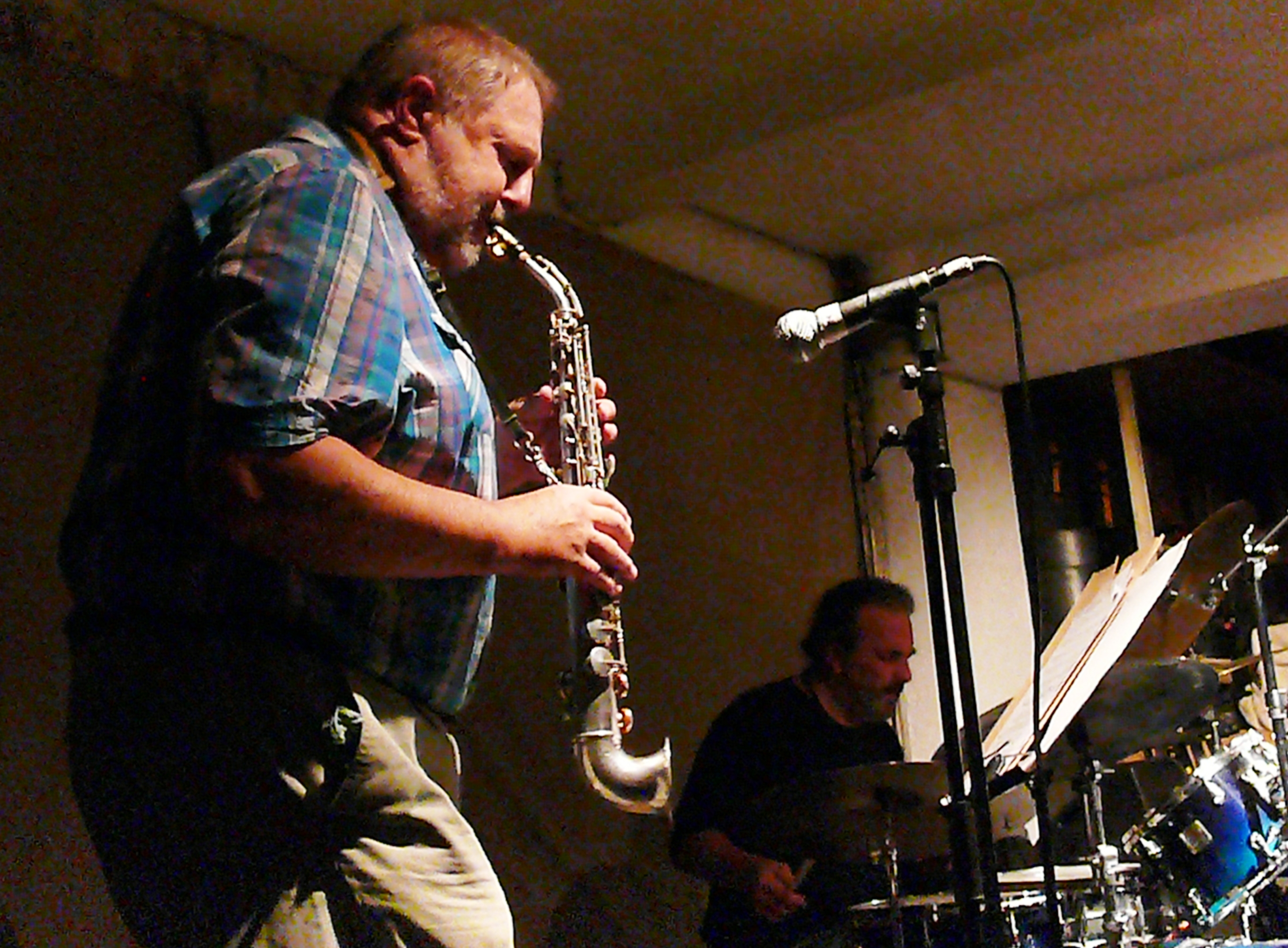 Paul dunmall and tony bianco at cafe oto, london in july 2013
