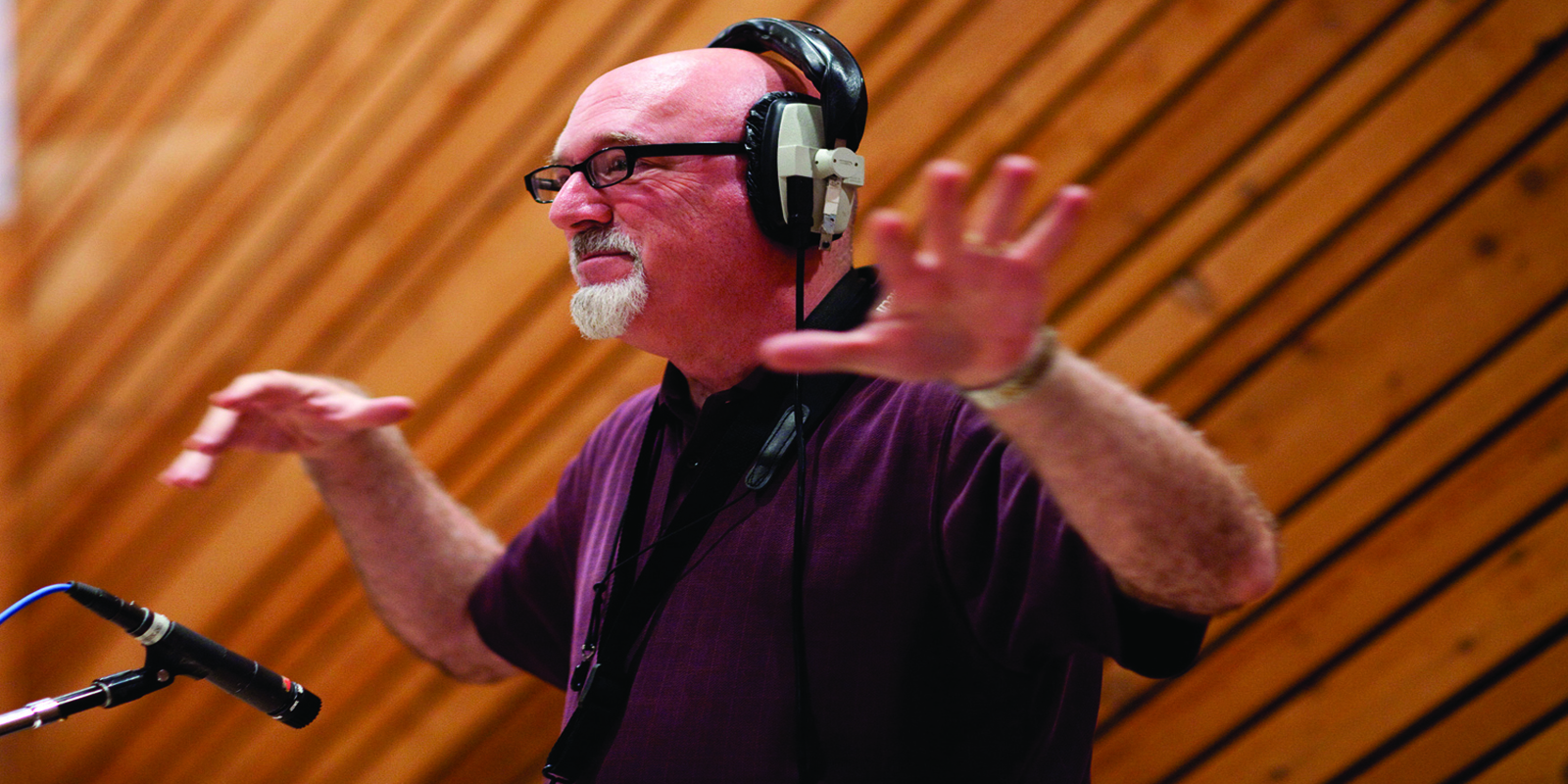 Frank Macchia conducts Folk Songs For Jazzers session