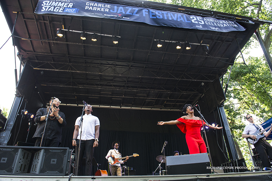 Alicia Olatuja at the 2017 Charlie Parker Jazz Festival