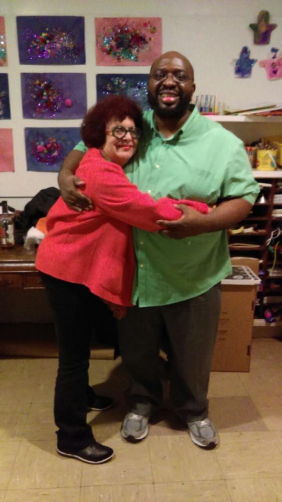 Roberta DeNicola with Darius Jones
