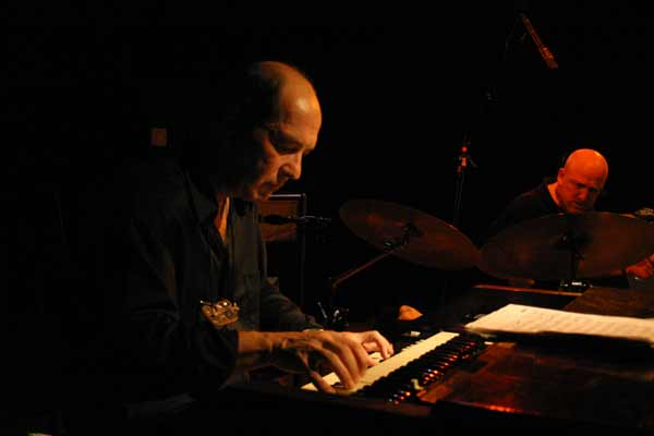 "Dan Wall with the ""John Abercrombie Organ Trio"" at Amr, Sud Des Alpes, Geneva, Switzerland, 2004"