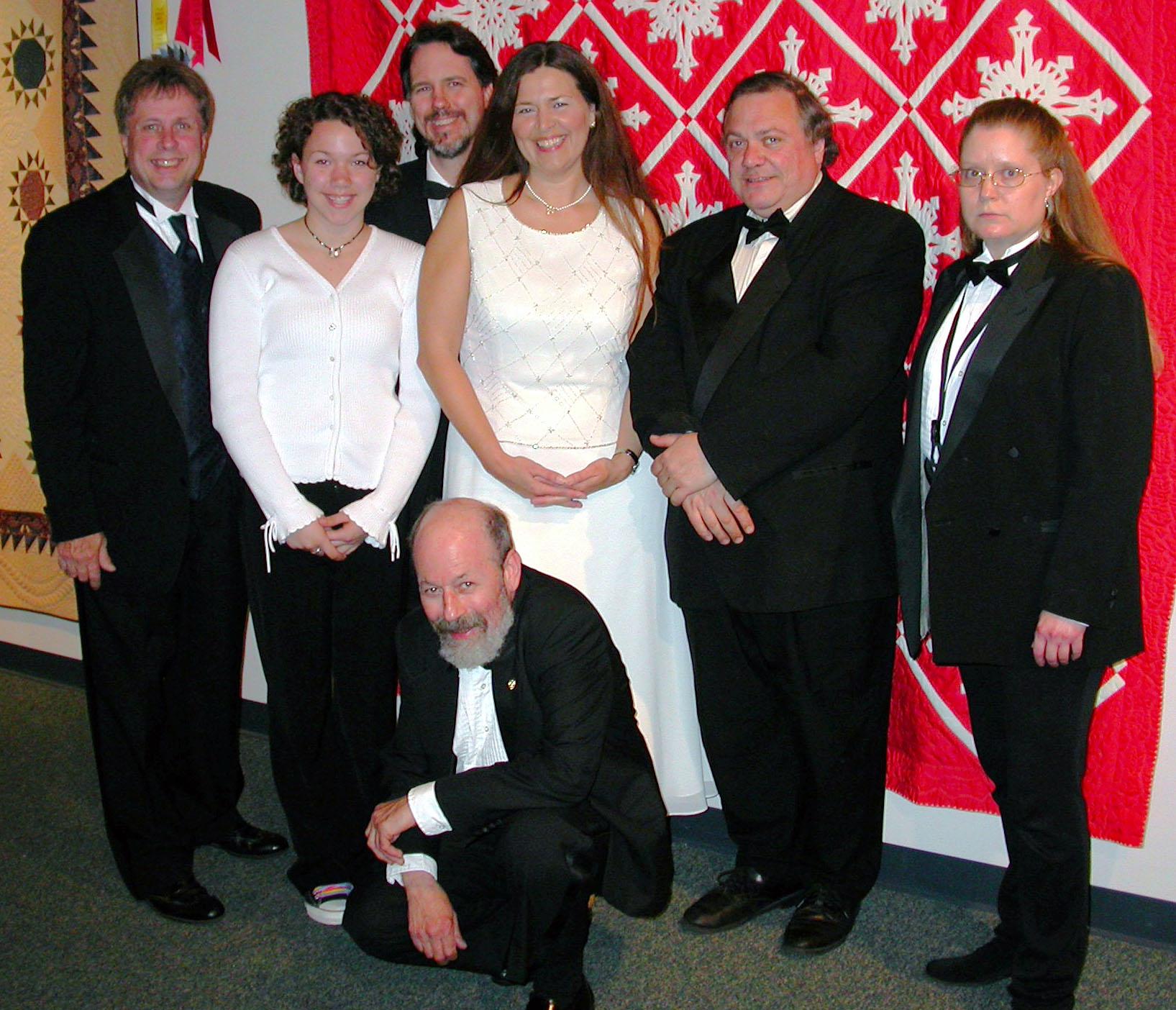 A Bill Sargent Custom Band - Bill Sargent, Kayla Luty, Brad Pregeant, Dan Shapera (Kneeling), Josie Treinen, Jeff Pietrangelo,