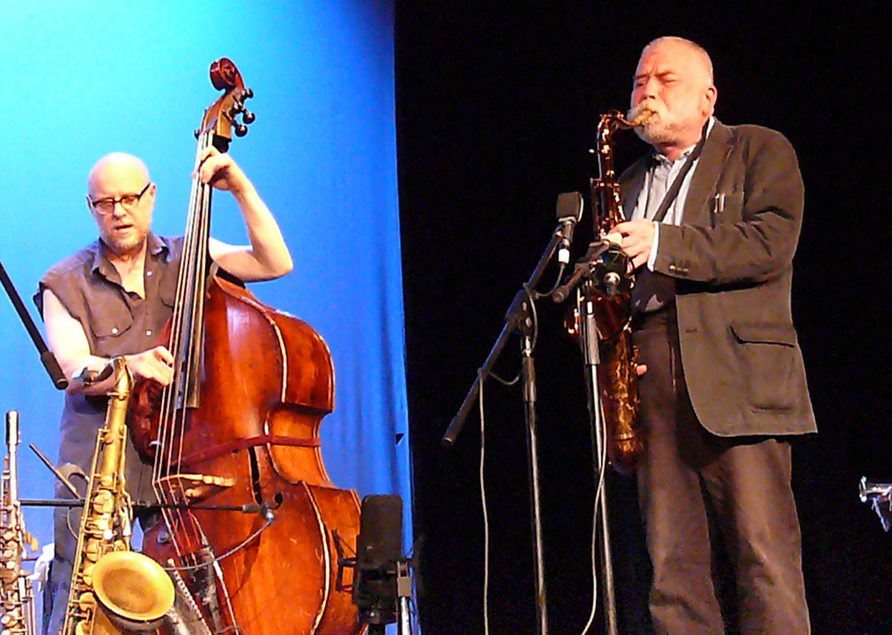 Kent Kessler and Peter Brotzmann at Vision Festival 2011