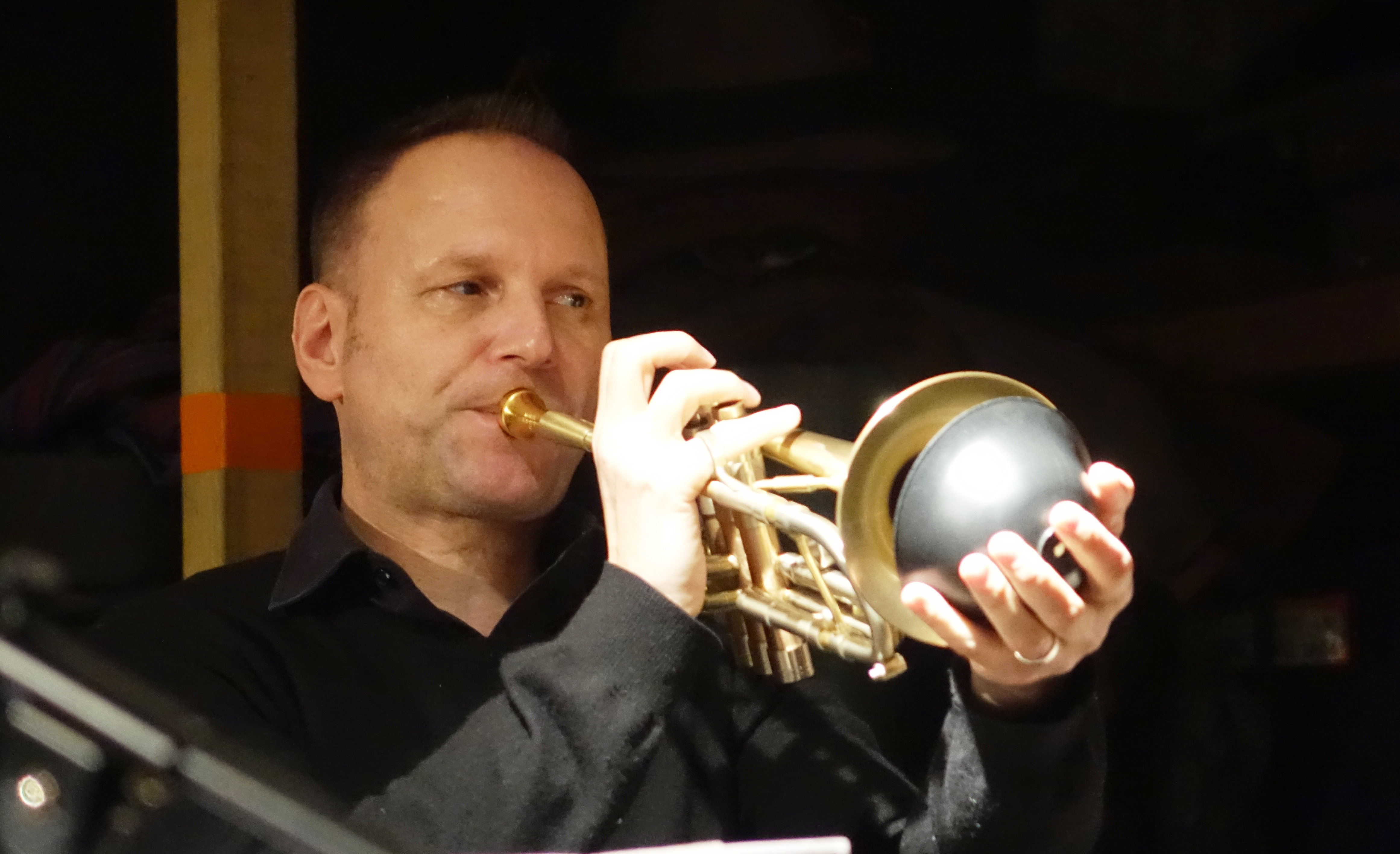 Thomas Heberer at Cafe Oto, London in December 2018