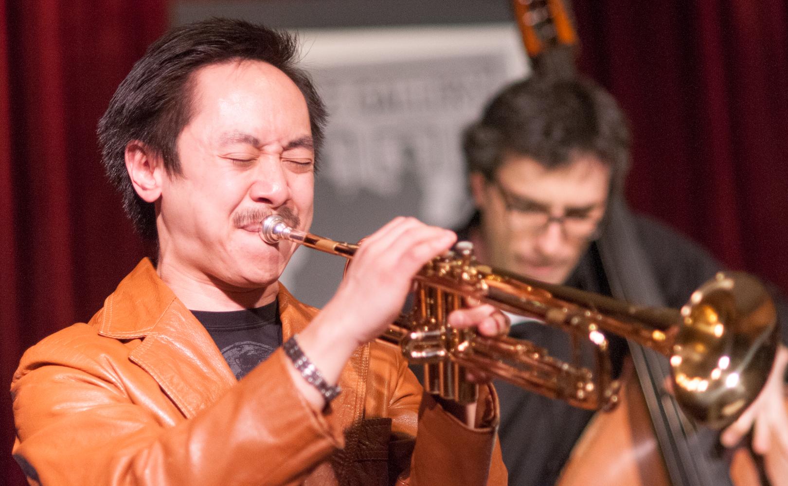 Gordon Au and Joseph Lepore with the Melissa Aldana Quartet at the Jazz Gallery