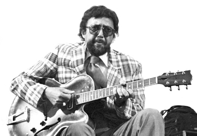 Barney Kessel 0318004 Capital Jazz, Knebworth, United Kingdom. July 1982 Imagesofjazz