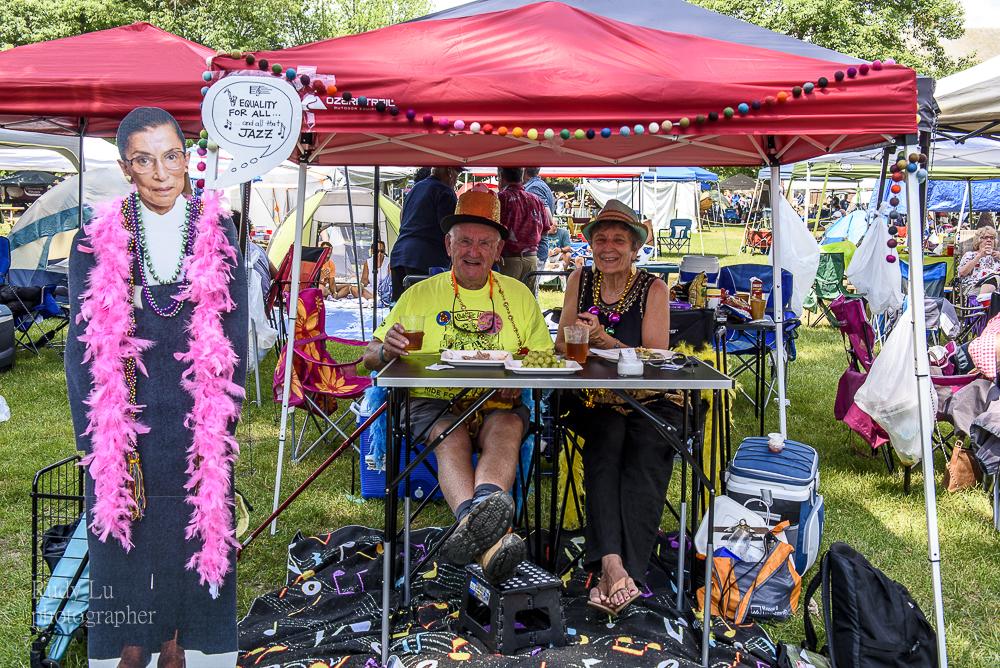 Creative humorous audience tent