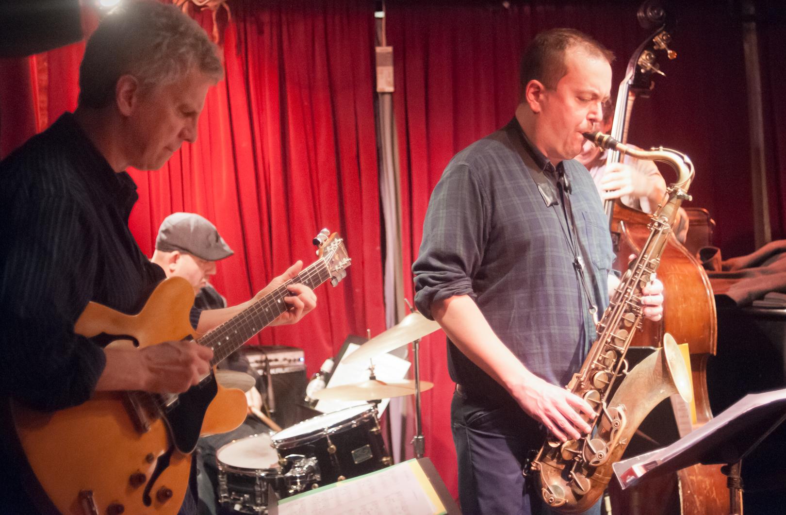 Steve Cardenas, Diego Voglino, Bill McHenry and Matt Penman with John McNeil and Urban Legends at Cornelia Street Cafe