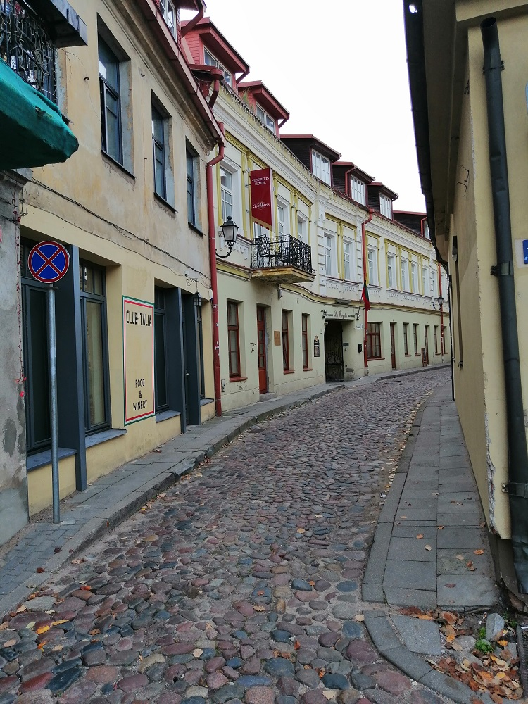Vilnius, old town cobbled street