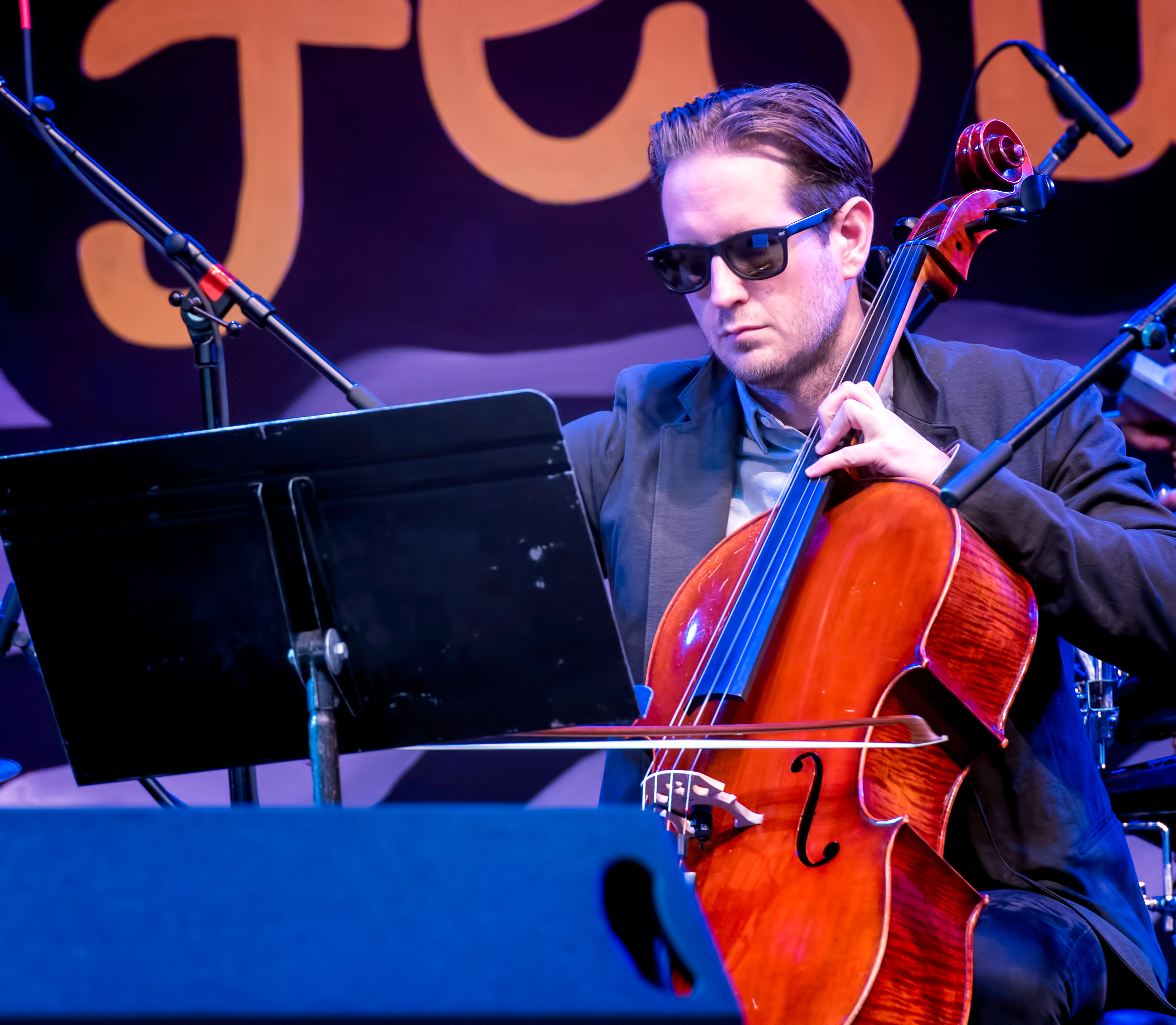 Christopher Hoffman with the Anat Cohen Tentet at the Monterey Jazz Festival 2018