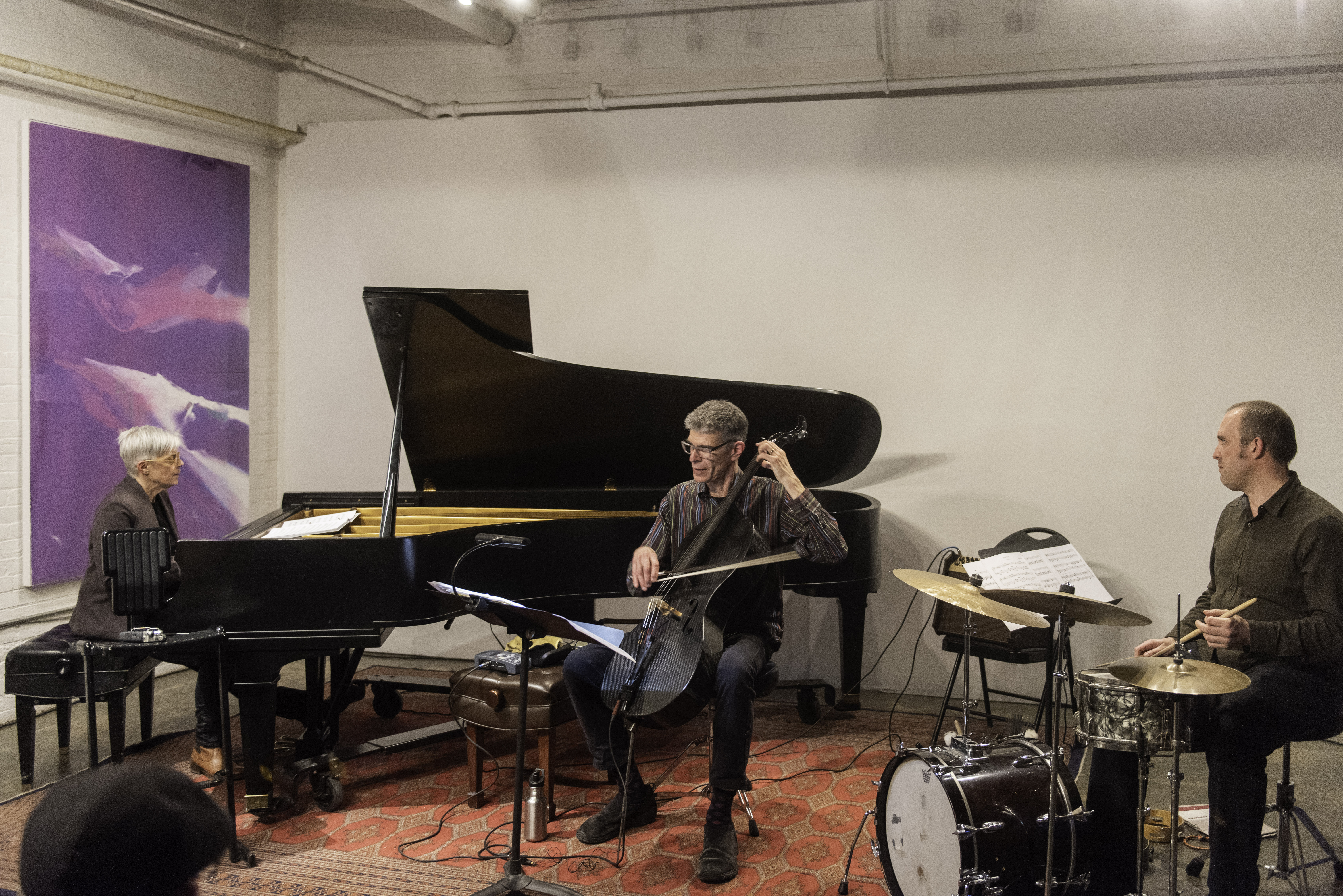 Marilyn Lerner, Matt Brubeck and Nick Fraser with Ugly Beauties at Gallery 345 in Toronto