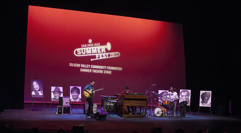Dr. Lonnie Smith Trio at San Jose Jazz Summer Fest 2017