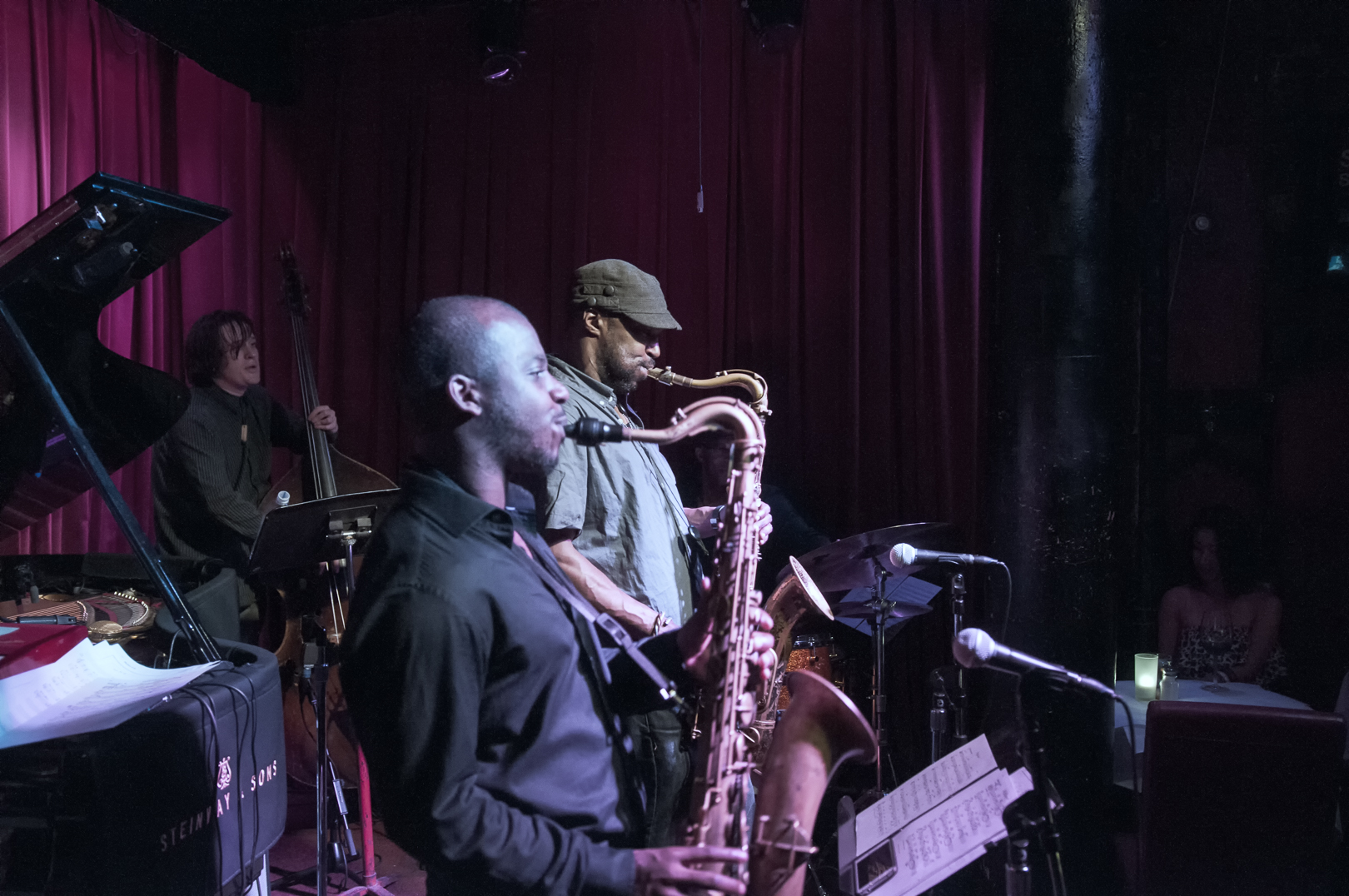 Tivon Pennicott and Stacy Dillard with the Stacy Dillard Quintet at Smoke Jazz Club