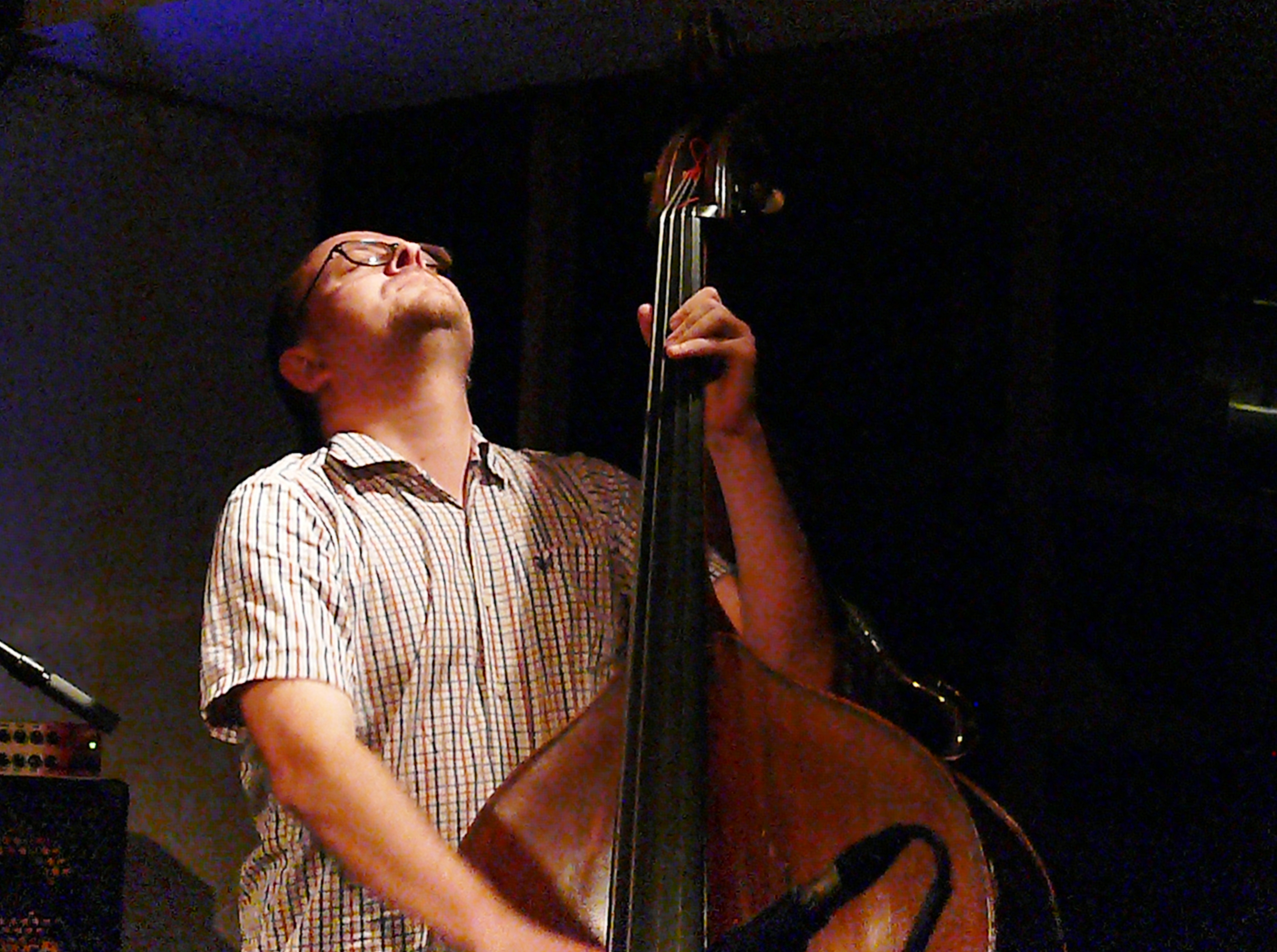 Olie Brice at Cafe Oto, London in July 2017
