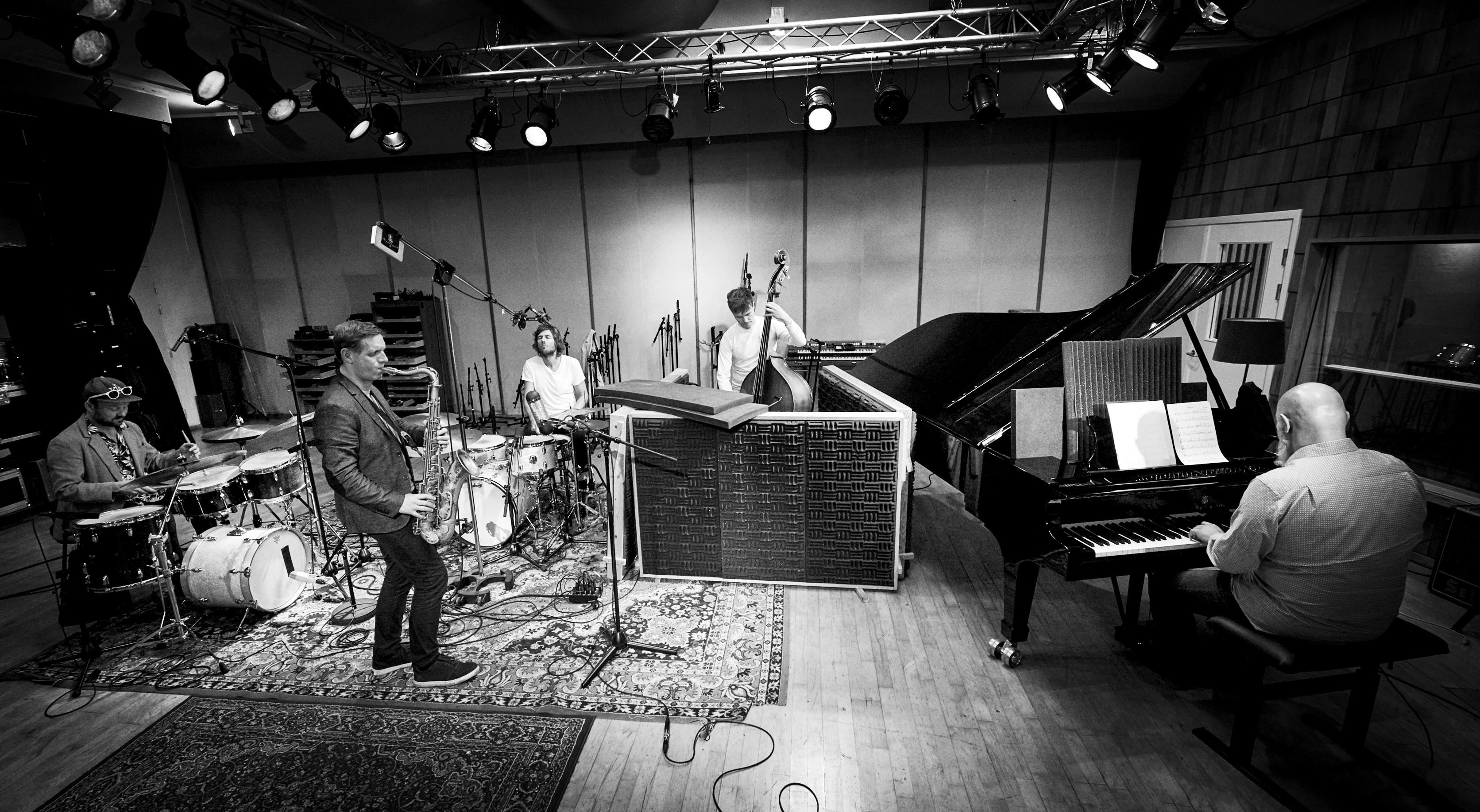 Jan Harbeck Quartet plus one - from recording the album 'The Sound The Rhythm'