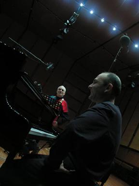 Lee Konitz & Marco Di Gennaro - Roma, Auditorium Feb 2006.JPG