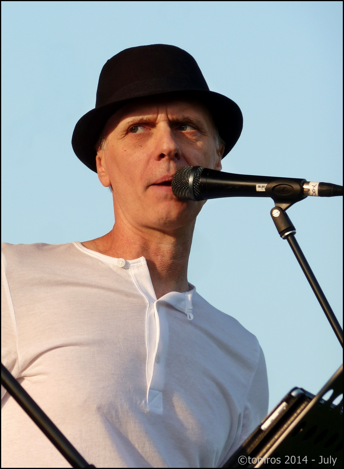 John Fraser Fronting Coldjack at Beaches Jazz Festival on Island Stage - Woodbine Park 18. July, 2014