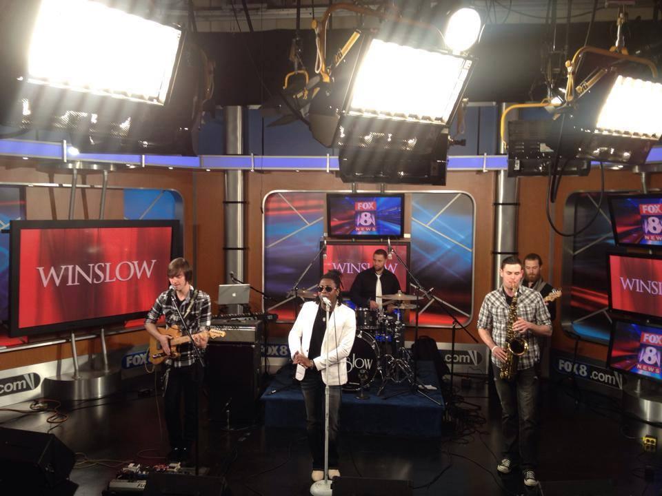 Matthew Alec with Winslow on Fox 8 News