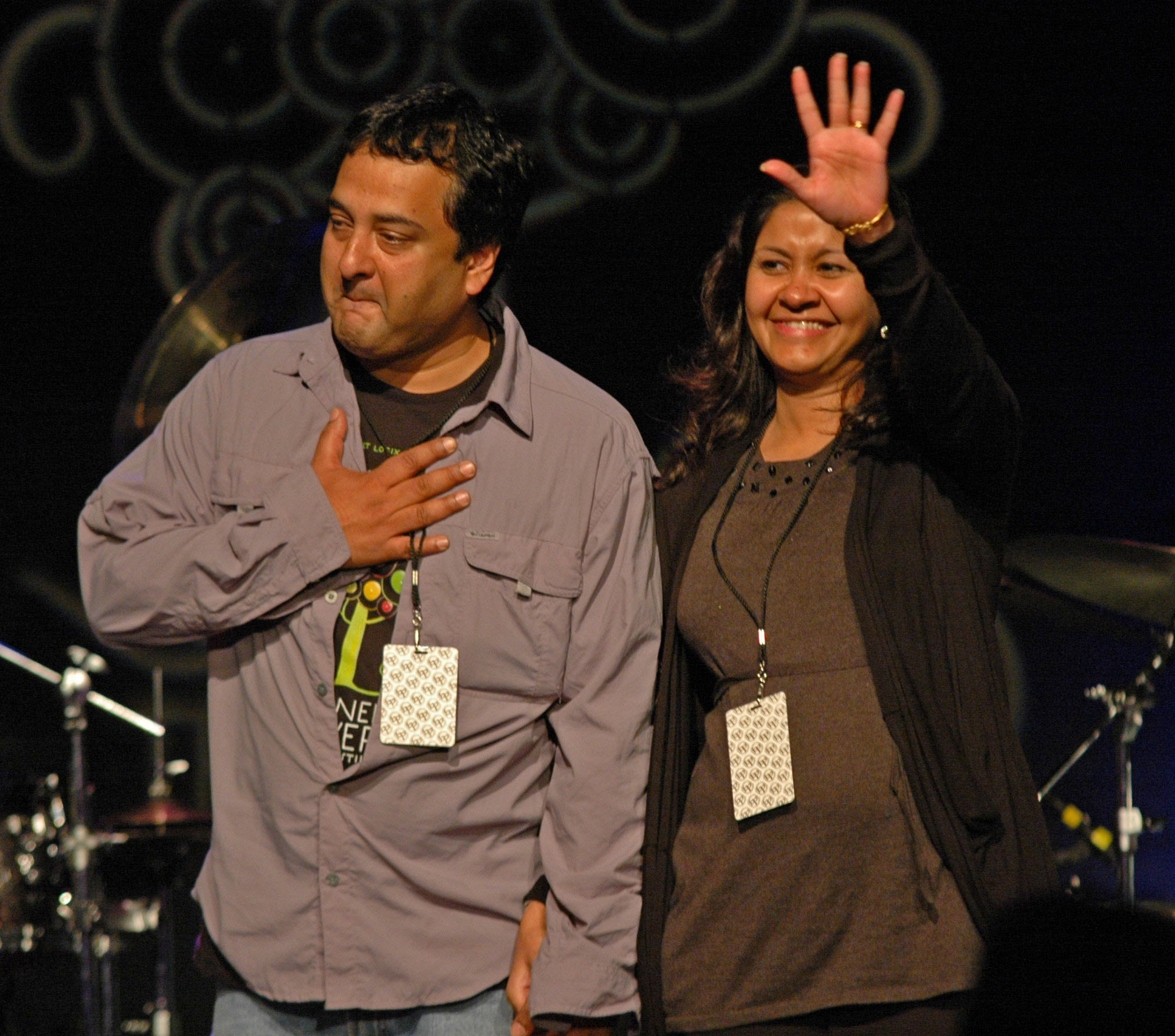 Abstract Logix's Souvik and Shweta Dutta, at the 2010 New Universe Music Festival