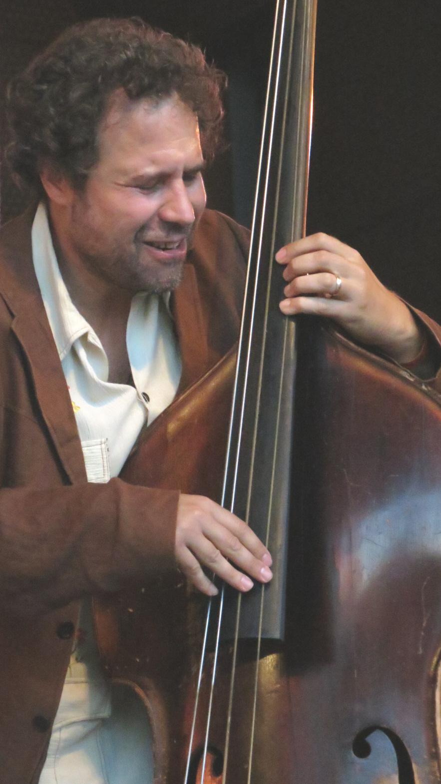 Joshua abrahams with hamid drake and bindu at 2013 chicago jazz festival