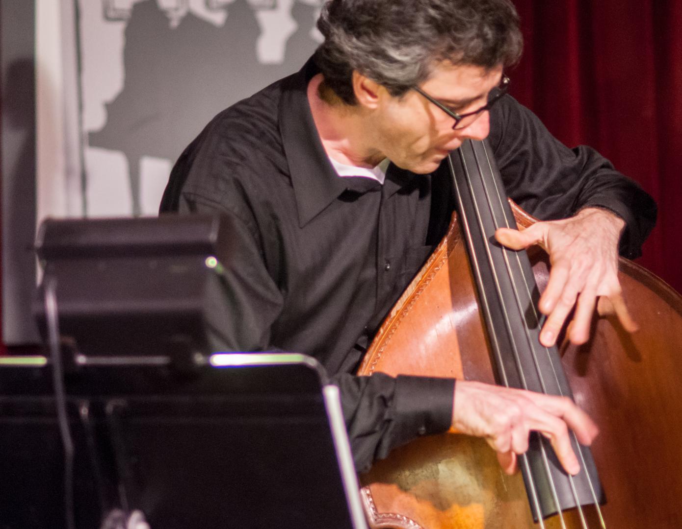 Joseph Lepore with the Melissa Aldana Quartet at the Jazz Gallery