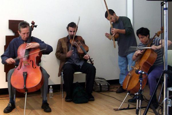 Global Strings Workshop: Tristan Honsinger, Mat Maneri, Jason Stanyek, &Amp; Peggy Lee