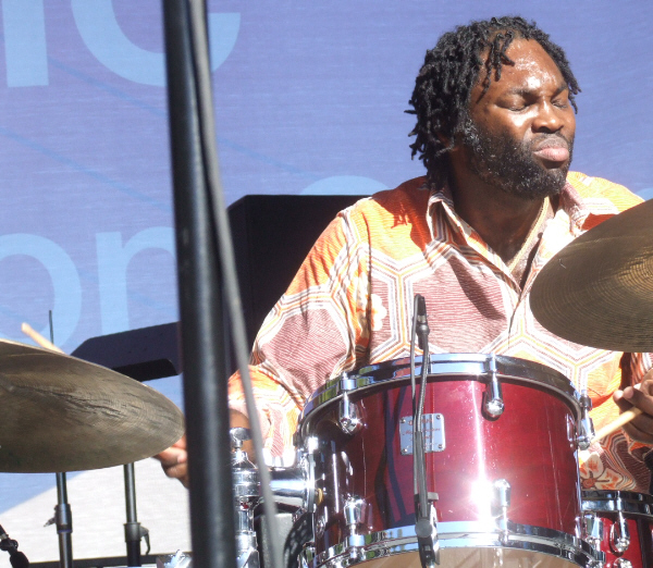 Dana Hall Leading His Quintet at 2010 Chicago Jazz Festival