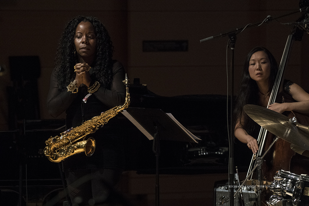 Tia Fuller and Linda Oh at the 2018 Winter Jazz Festival