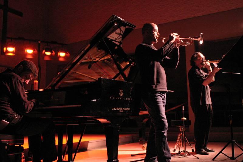 Giovanni Mirabassi-Flavio Boltro-Glenn Ferris at Cully Jazz Festival, Switzerland, 2005