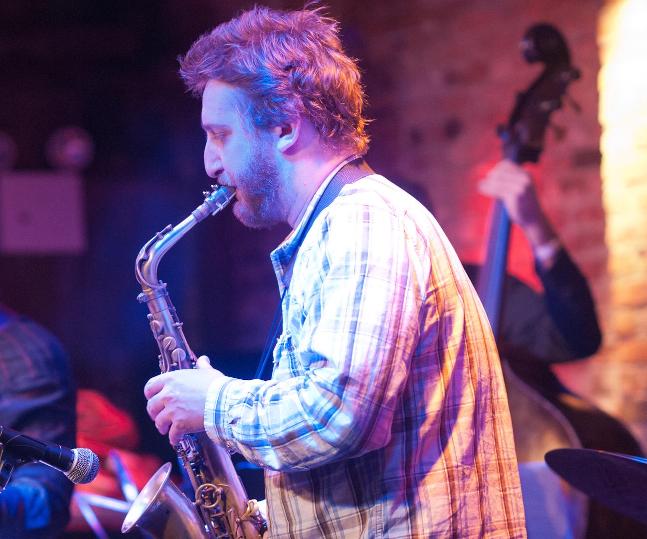 Loren Stillman with Tyshawn Sorey's Oblique at the Winter Jazzfest 2012