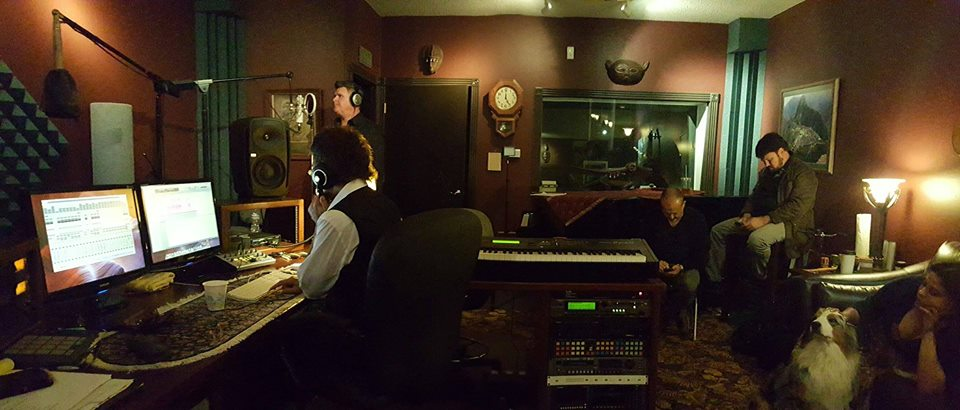 Bill Mentz in the studio with Gino Vannelli