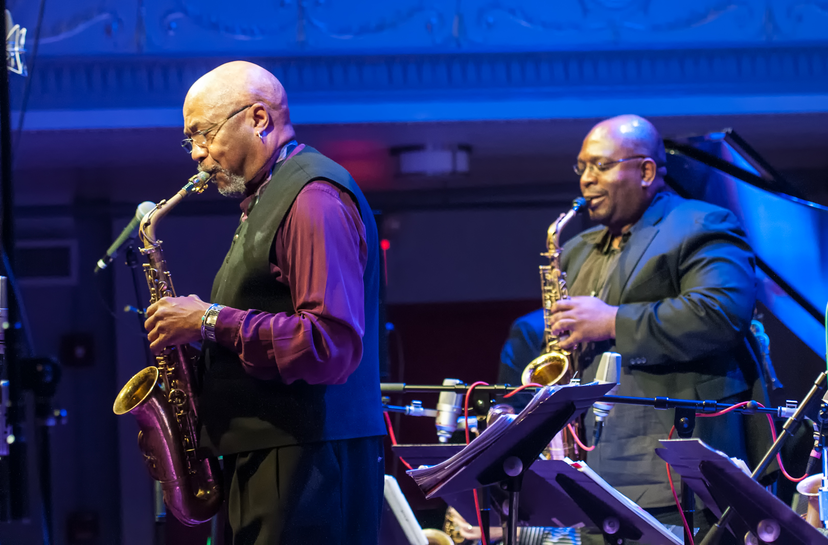 Oliver Lake and Darius Jones with the Oliver Lake Big Band at Roulette