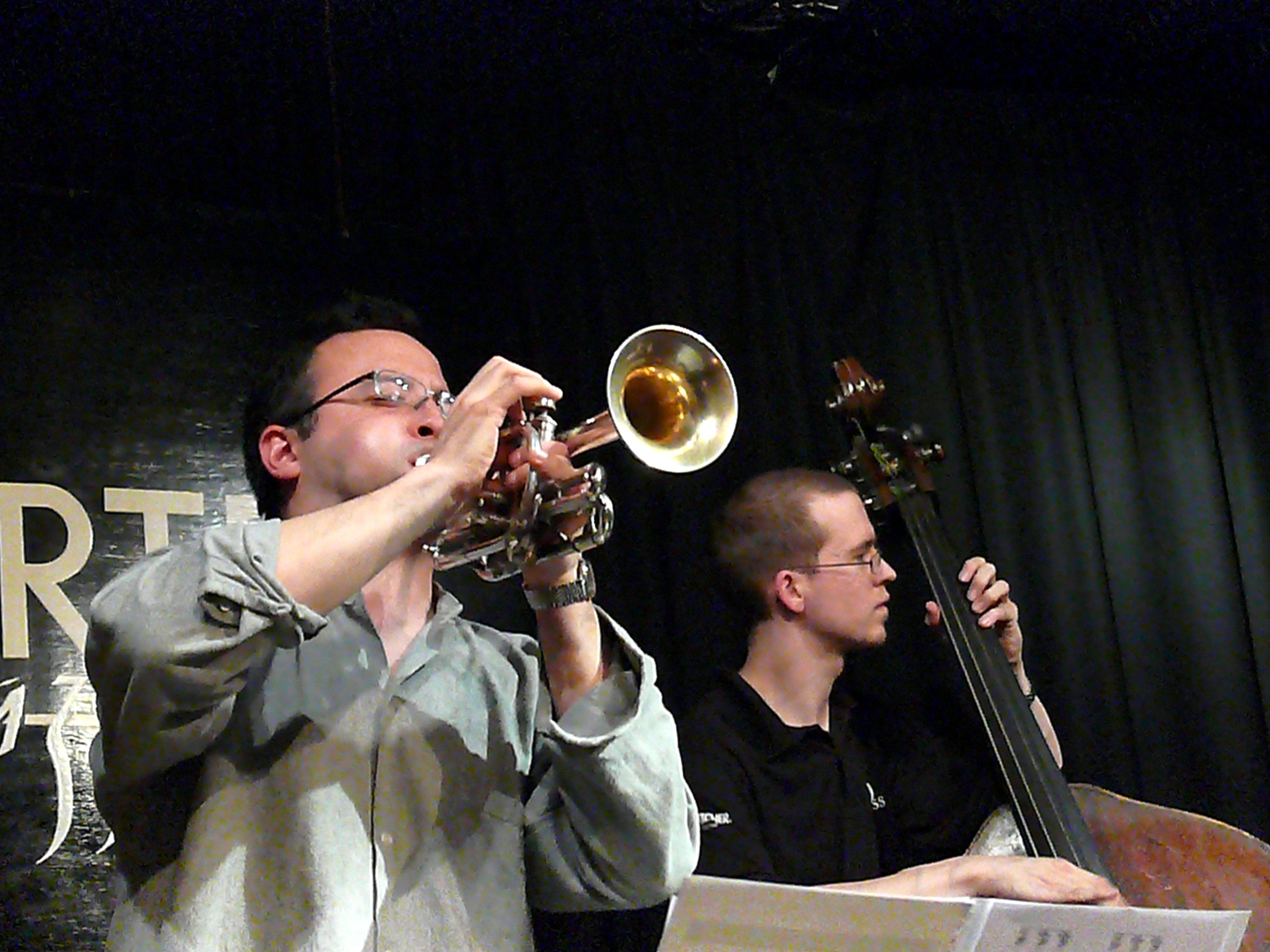 Taylor Ho Bynum and Dominic Lash at the Vortex, London