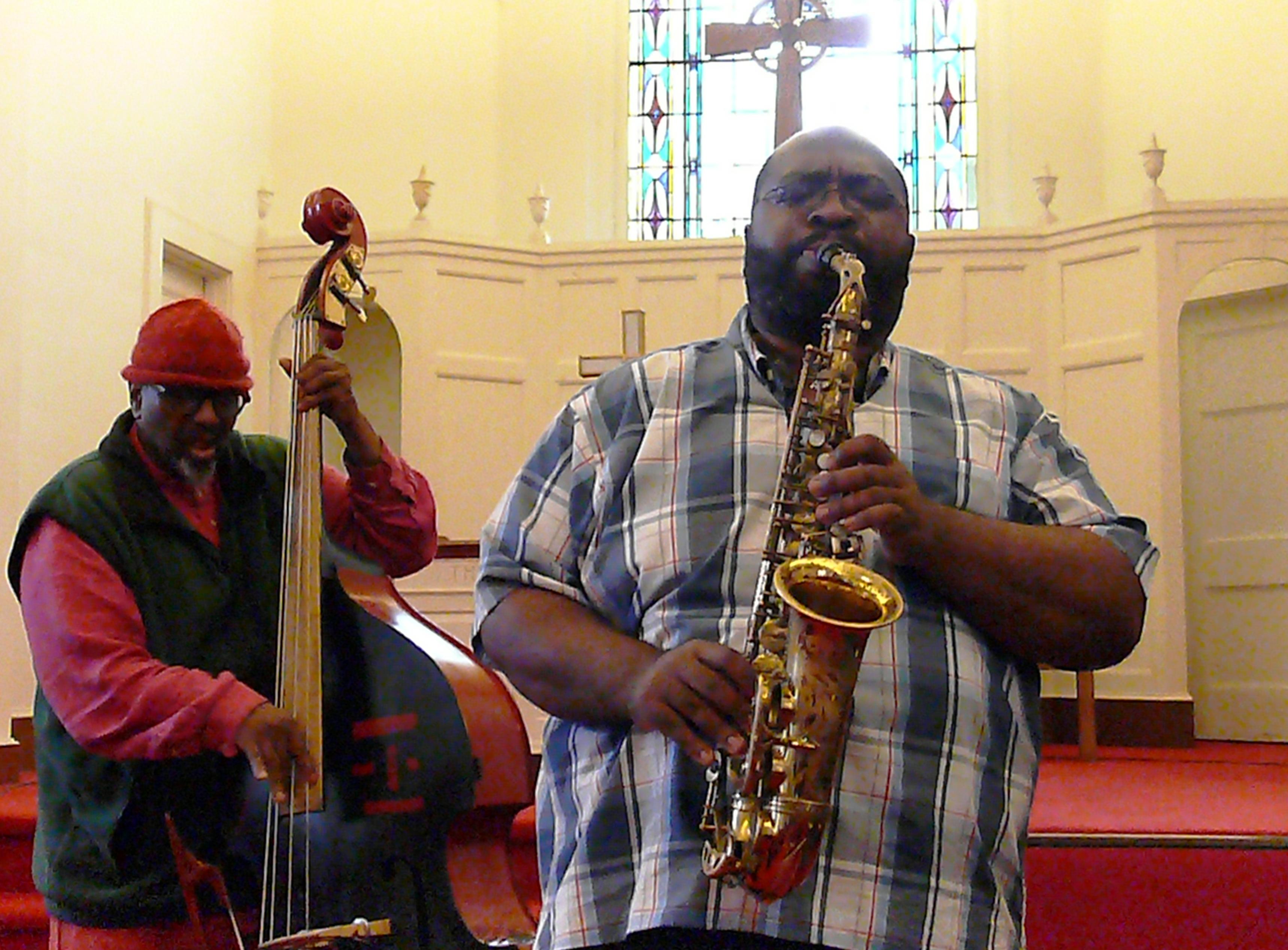 William Parker and Darius Jones at Rendall Memorial Presbyterian Church, Harlem, NYC in October 2016